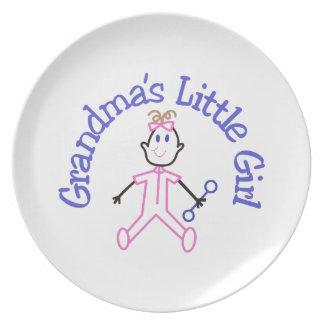 Grandmas Little Girl Dinner Plate