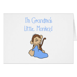 Grandma's Little Monkey - Blue Tshirts and Gifts Cards
