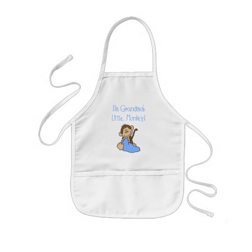 Grandma's Little Monkey - Blue Tshirts and Gifts Kids' Apron