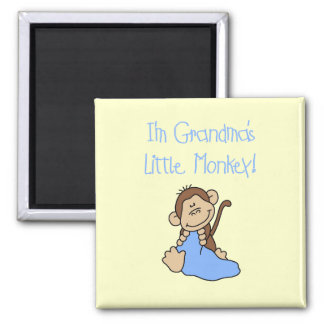 Grandma's Little Monkey - Blue Tshirts and Gifts Magnet