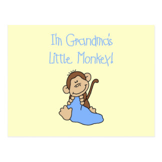 Grandma's Little Monkey - Blue Tshirts and Gifts Postcards
