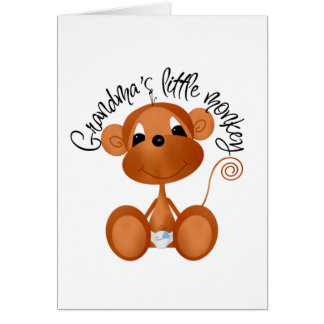 Grandma's Little Monkey - Boy Tshirts and Gifts Cards