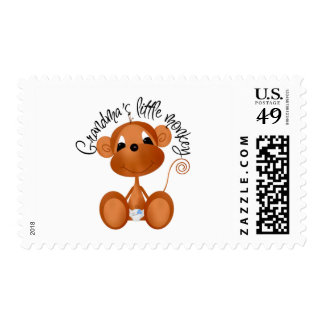 Grandma's Little Monkey - Boy Tshirts and Gifts Postage Stamp