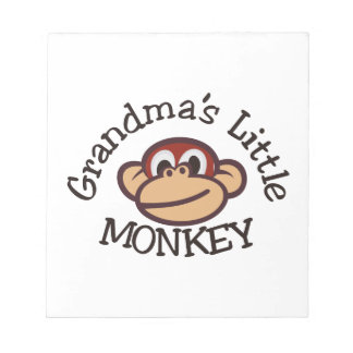 Grandma's Little Monkey Memo Note Pad