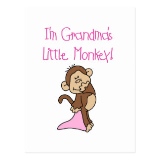 Grandma's Little Monkey - Pink T-shirts and Gifts Post Card