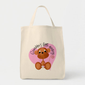 Grandma's Little Monkey Tshirts and Gifts Tote Bag