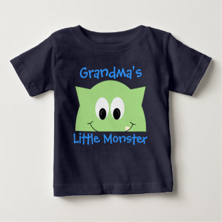 Grandma's Little Monster Green Baby T-Shirt