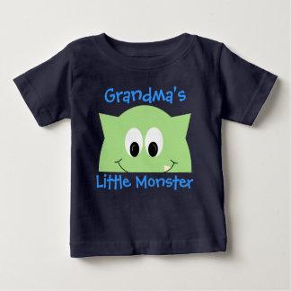 Grandma's Little Monster Green Baby T-Shirt