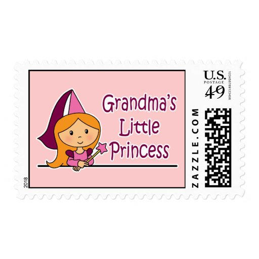 Grandma's Little Princess Stamp