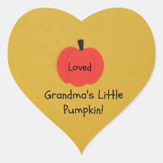 Grandma's Little Pumpkin! Heart Sticker