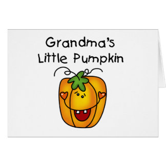 Grandma's Little Pumpkin T-shirts and gifts Cards