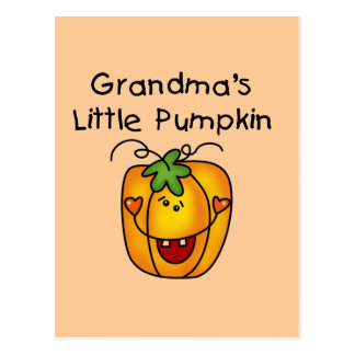 Grandma's Little Pumpkin T-shirts and gifts Postcard