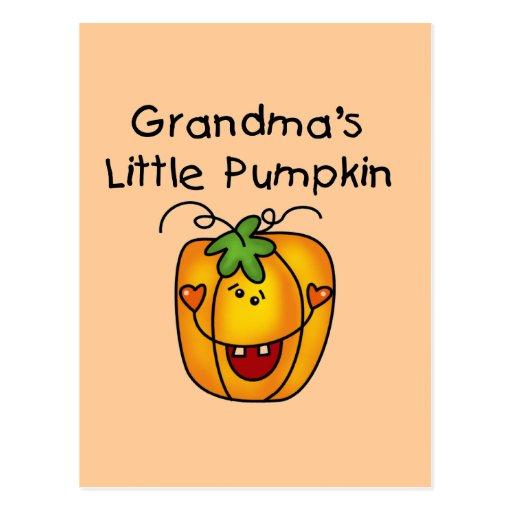 Grandma's Little Pumpkin T-shirts and gifts Postcards