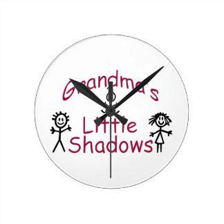 Grandma's Little Shadows Round Clock