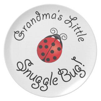 Grandma's Little Snuggle Bug! Dinner Plates