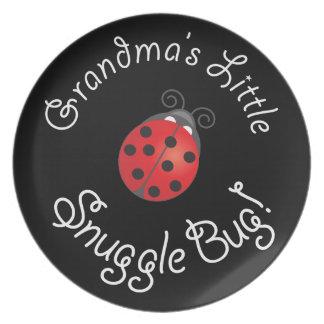 Grandma's Little Snuggle Bug! Party Plate