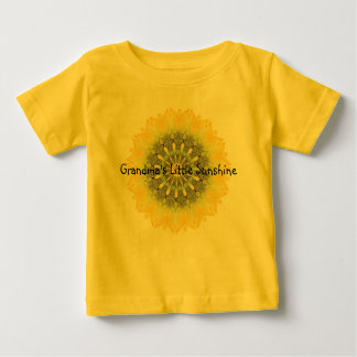 Grandma's Little Sunshine with Sunflower Design Baby T-Shirt