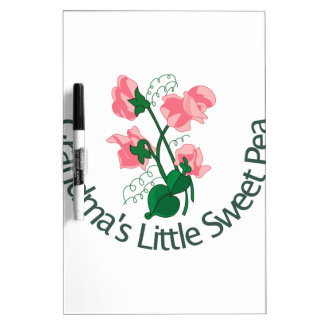 Grandma's Little Sweet Pea Dry-Erase Board
