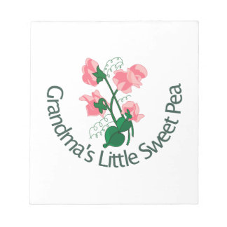Grandma's Little Sweet Pea Memo Notepads