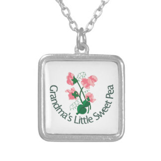 Grandma's Little Sweet Pea Silver Plated Necklace