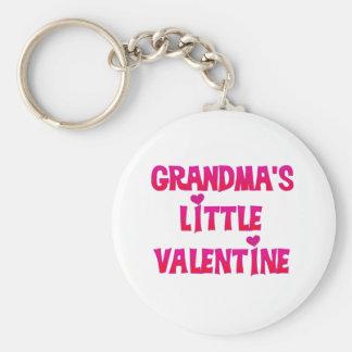 Grandma's Little Valentine Basic Round Button Keychain