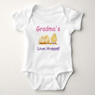 Grandmas Love Nugget Baby Bodysuit