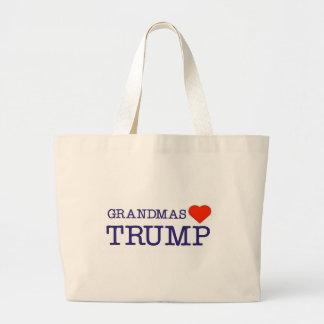 Grandmas Love Trump Large Tote Bag