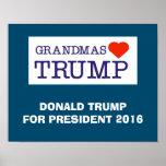 Grandmas Love Trump Poster