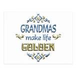 Grandmas Make Life Golden Postcard