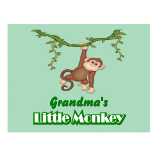 Grandma's Monkey Postcard