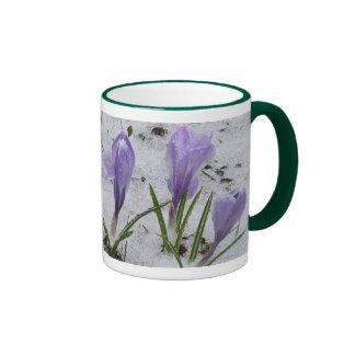 Grandma's Mother's Day -Crocus in Snow Ringer Mug
