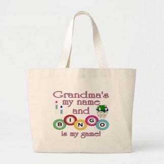 Grandmas my name Bingo is my game Large Tote Bag