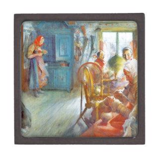 Grandma's Needlework (Peasant Interior ) Jewelry Box