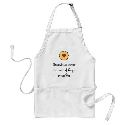 Grandmas never run out of hugs or cookies apron