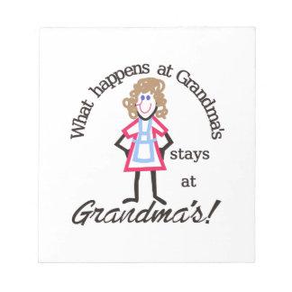 Grandma's! Memo Note Pad