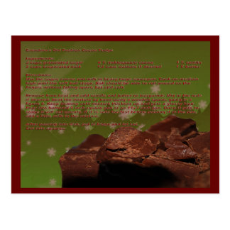 Grandma's Old Fashion Cocoa Fudge Recipe Card