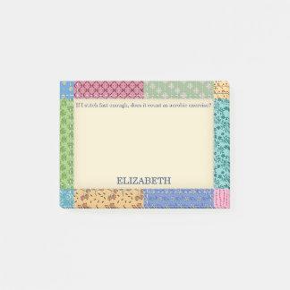 Grandma's Patchwork Quilt Custom Post-it Notes