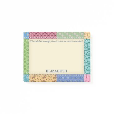 keyandcompass Grandma's Patchwork Quilt Custom Post-it Notes