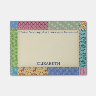 Grandma's Patchwork Quilt Custom Post-it® Notes