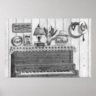 Grandma's Piano Poster