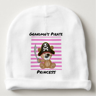 Grandma's Pirate Princess Baby Cotton Beanie