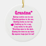 Grandma's Poem Double-Sided Ceramic Round Christmas Ornament