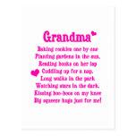 Grandma's Poem Postcard