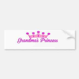 Grandma's Princess Car Bumper Sticker