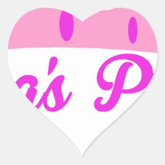 Grandma's Princess Heart Sticker