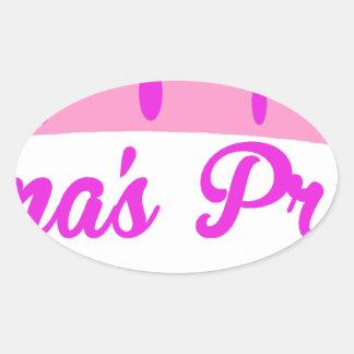 Grandma's Princess Oval Sticker