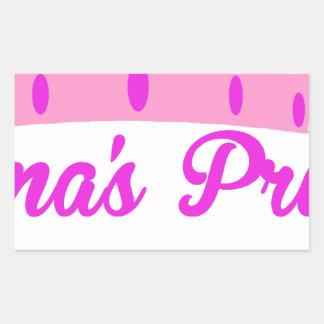 Grandma's Princess Rectangular Sticker
