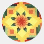 Grandma's Quilt Classic Round Sticker