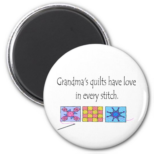Grandma's Quilts T-shirts and Gifts. Magnet