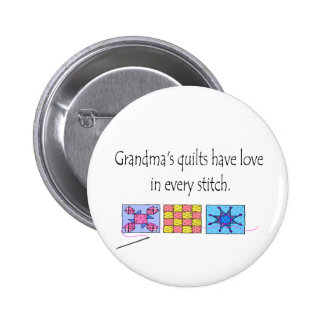 Grandma's Quilts T-shirts and Gifts. Pinback Button
